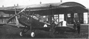 An RE8 biplane
