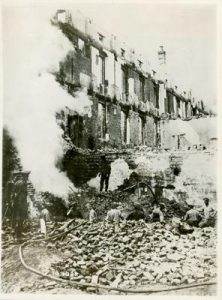 The hospital after the bombing.